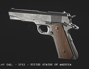 M1911 3D asset