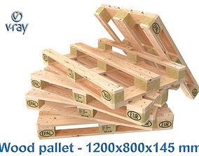 3D model Wood pallet EPAL EUR