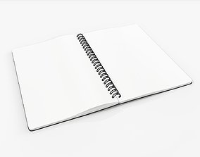 Sketchbook with spiral 03 3D
