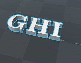 3D print model GHI letters alphabet