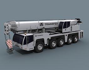 animated Your Wheeled Crane - 200 t 3d animated crane