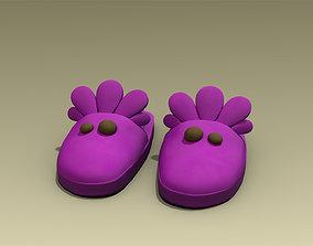 Stylized Slippers 3D asset