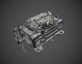 3D model game-ready Carter carburetor