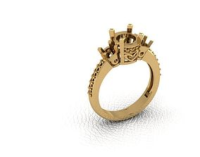 Ring 3D print model jewelry ring