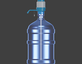 Carboy dustbin 3D asset