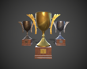 3D model game-ready Winner Cup Trophy