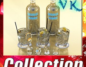 3D Vodka Absolut Collection