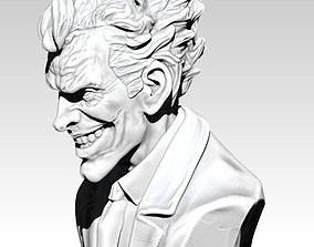 The Crazy Joker Bust Detailed Realistic 3D print model