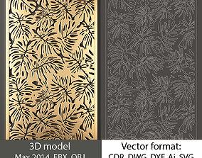 Decorative panel 3 3d model and vector format