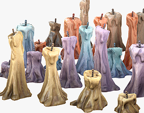 Stylized Candles Pack 3D model