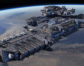 3D model Spacecraft Carrier spaceship