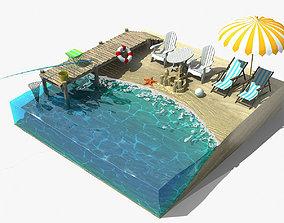 3D asset Beach Fragment
