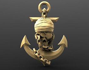 Pirate skull 3 3D printable model