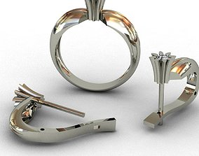 Diamond Set 3D print model 3D print model 3D print