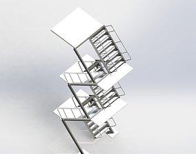 3D model Steel staircase