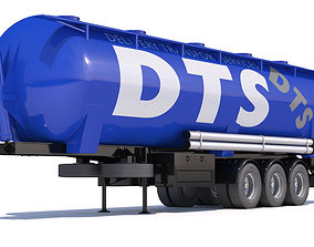 Tipping Trailer Silo 3D