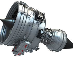 Fanjet Turbofan Engine 3D Model