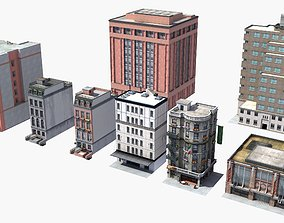 3D model 8 City Buildings