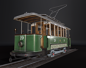 Tram 3D Model Gameready realtime