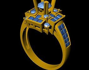 3D printable model DiamondRing 18K WhiteGold Outstanding 1