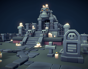 3D asset Cemetery Set - Proto Series
