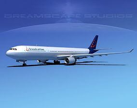 3D model Airbus A330-300 Brussels Airlines