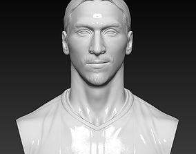 Zlatan Ibrahimovic - Man Utd - player bust 3D sculpture