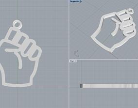 Fist symbol 3D print model