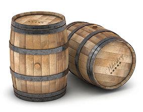 Barrel 3D model decorarion
