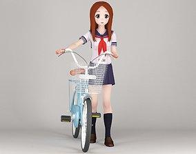 3D model Takagi-san anime girl pose 02
