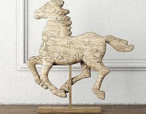 3D Tan Horse