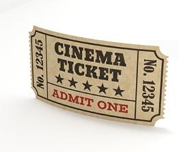 3D model Cinema Ticket-1