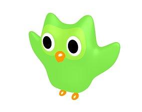 3D model Duolingo