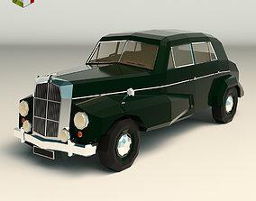 3D asset Low Poly Sedan Car 14