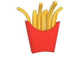 French Fries v2 004 3D asset