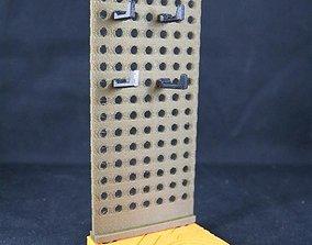 3D printable model CyberBase System Peg Wall Addon