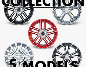 zurel 3D model Car Rim Wheel Collection volume 3