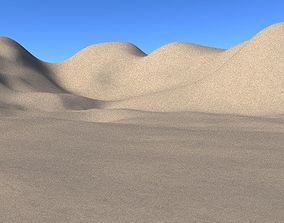 Sandy desert terrain with Hills and mountains 3D model