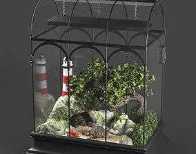 Terrarium with turtle 3D model