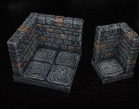 3D printable model OpenForge Stone Dungeon Edge Corner