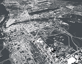 altitude 3D model Cityscape Dubai United Arab Emirates