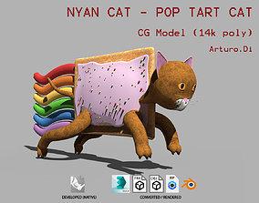 3D asset Nyan Cat Pop Tart Cat