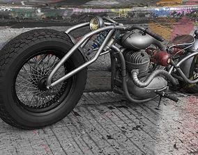 Jawa 354 custom motorcycle 3D