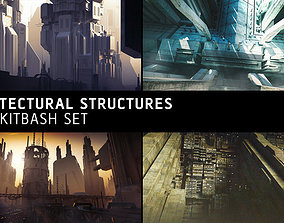 3D Architectural Structures Kitbash Set