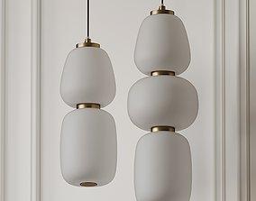 Soji 3 and 2 Light LED Mini Pendant By ET2 3D model