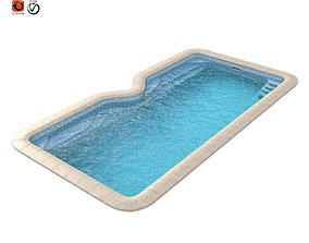 3d model of a composite pool Avignon bathing