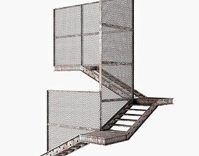 Old metal stair 3D model