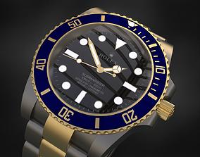 Rolex Submariner 3D model perpetual