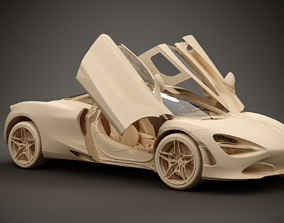 McLaren 720S 2017 3D model sport