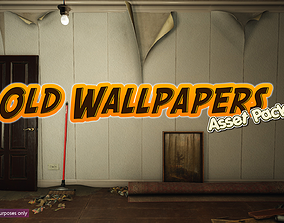 3D model Low-Poly Old Wallpapers Pack
